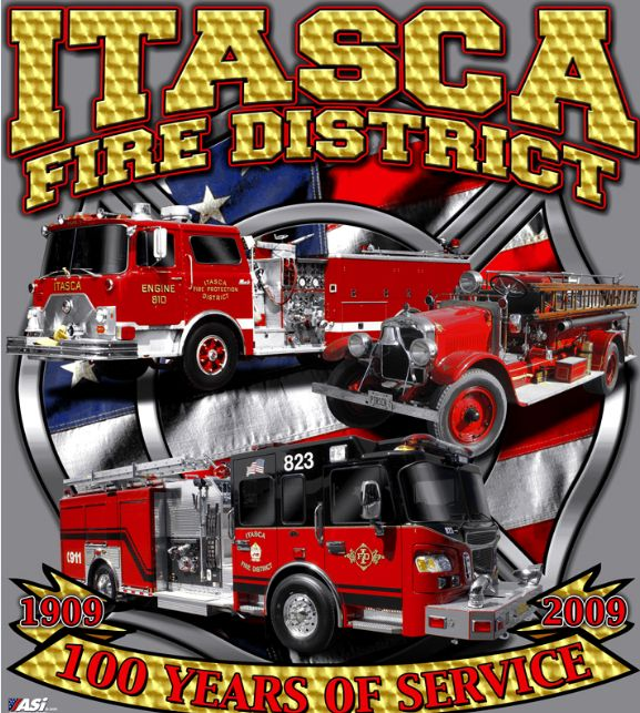 Itasca Fire Discrict 100 years of service celebration banner