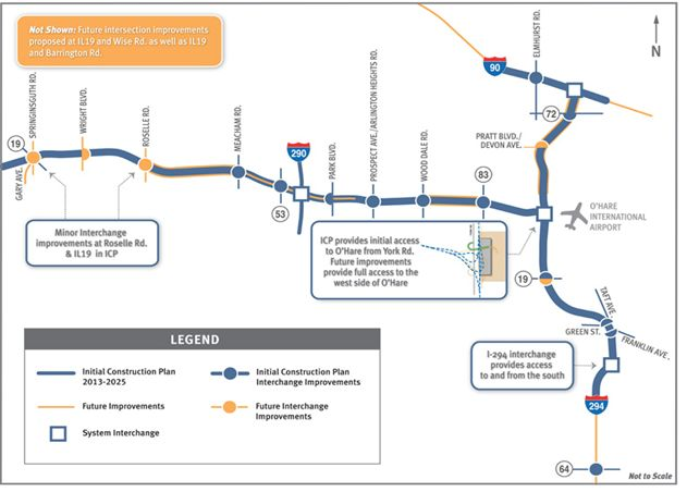 Eglin-O' Hare Western access project construction plan map